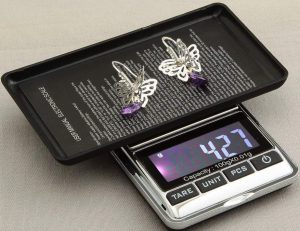 LuckyStone Electronic Pocket Jewelry and Kitchen Food Weighing Scale